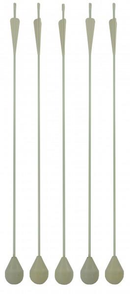 LARP-Pfeil Rundkopf, komplett weiß, 76 cm, 03008