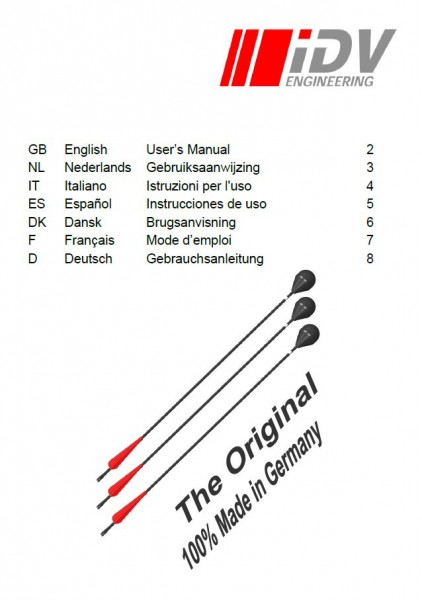 User manual safety arrows multilingual