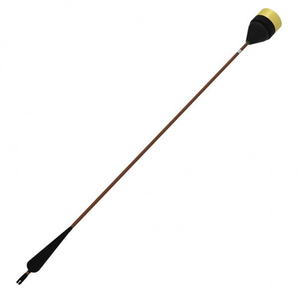 LARP LD Sicherheits-Pfeil, brauner Schaft, schwarze Befiederung, 03025