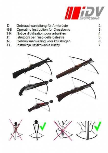User manual crossbows multilingual